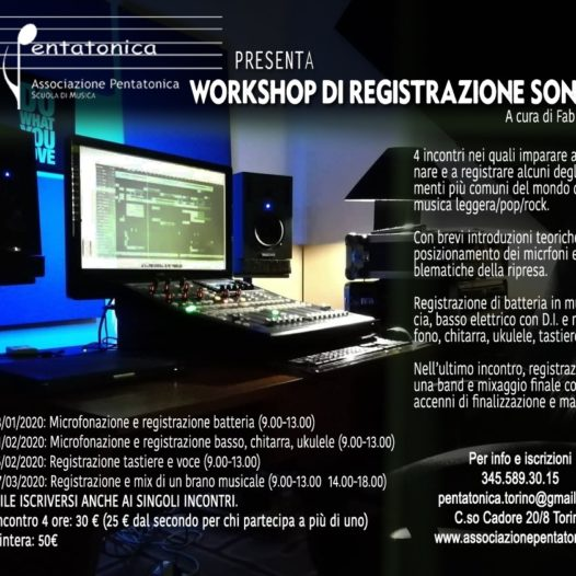 Workshop – Registrazione sonora